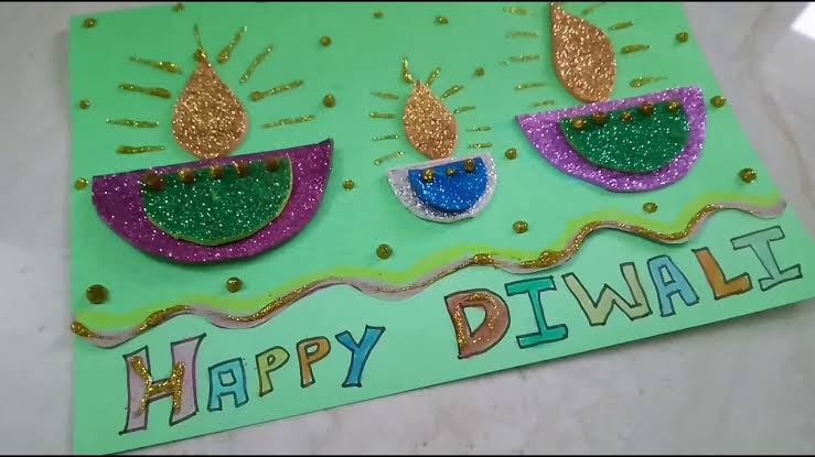 Diwali card making idea for kids
