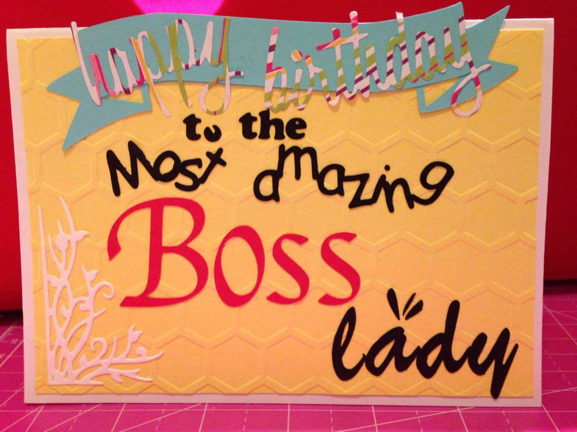 Happy Birthday Card for Boss Female