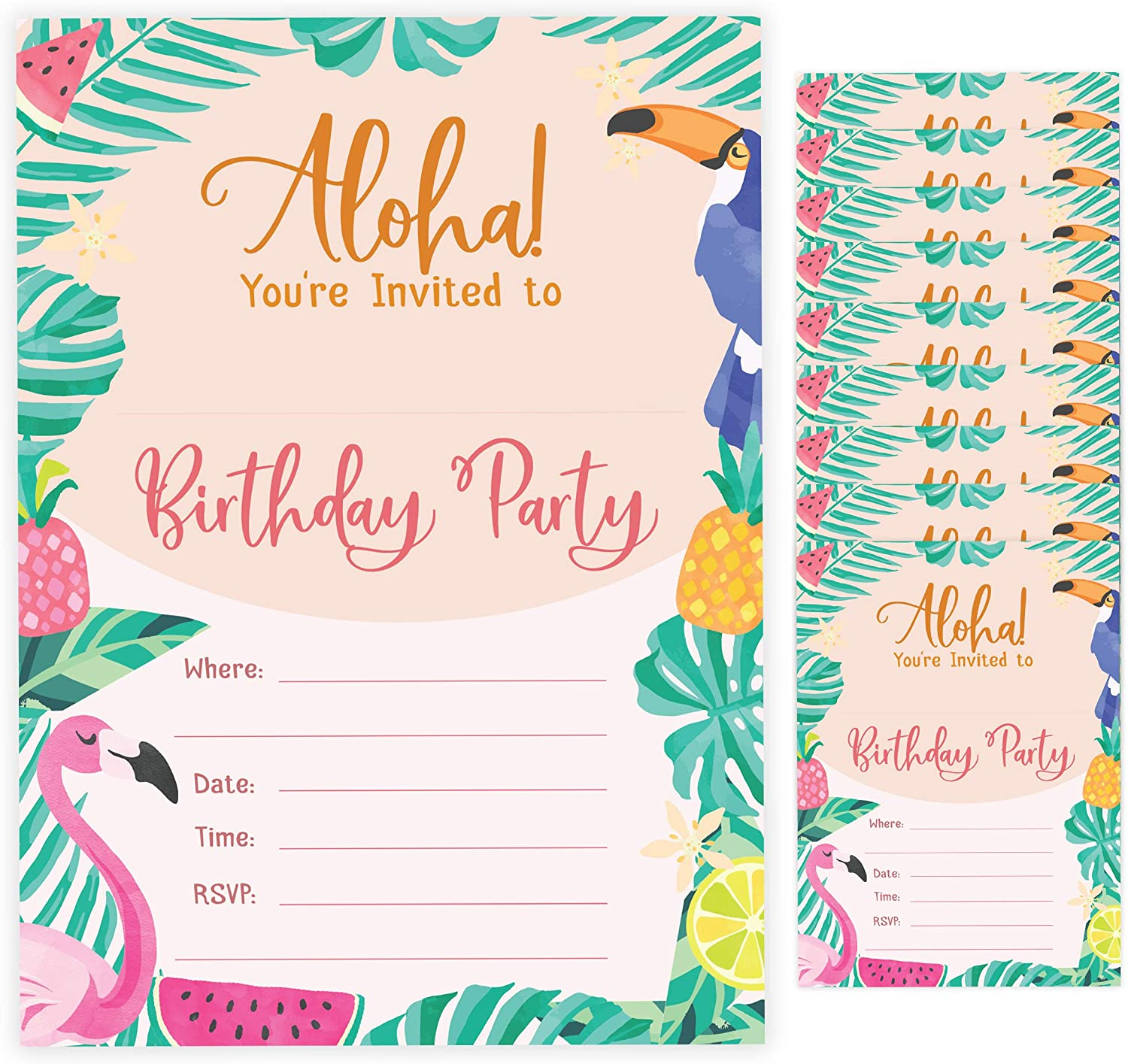 Printed Birthday Invitation Card 1