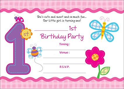 Printed Birthday Invitation Card