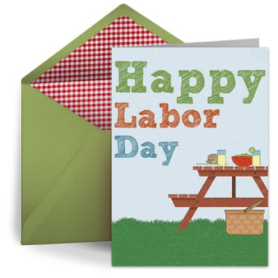 Simple Labour Day Card