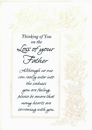 Sympathy Card for Loss of Father