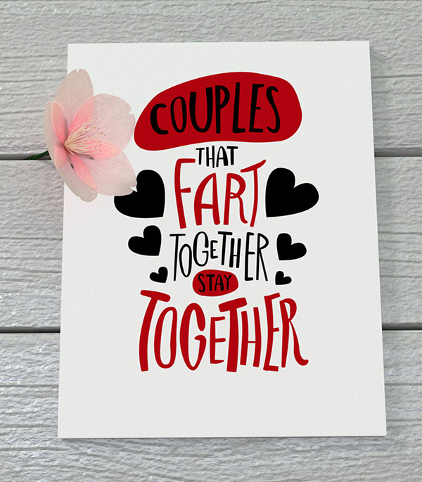 Funny Valentine's Day Quotes Handmade Card 5