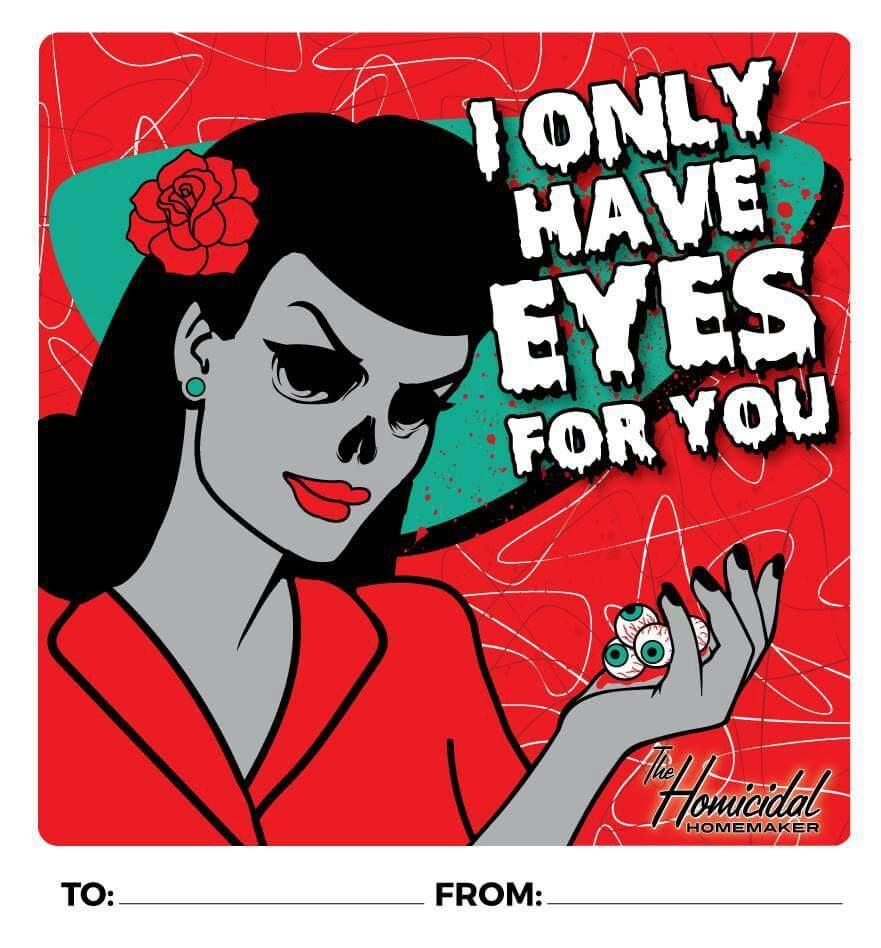 Printable Horror Valentines Cards 1