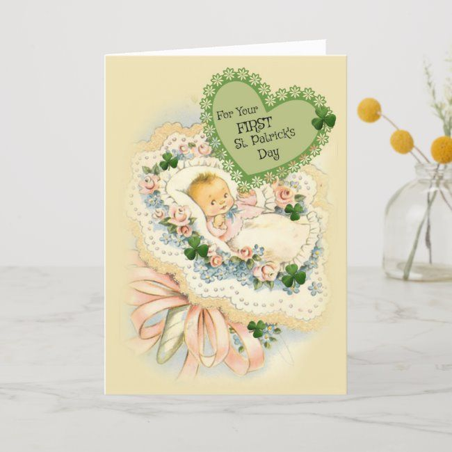 First St Patricks Day Card For Baby 1First St Patricks Day Card For Baby 1