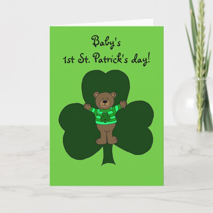 First St Patricks Day Card For Baby 2