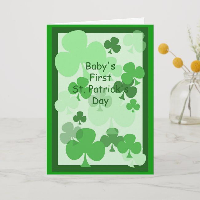 First St Patricks Day Card For Baby 4