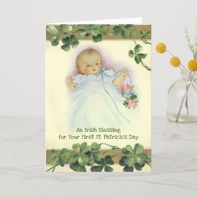 First St Patricks Day Card For Baby 6