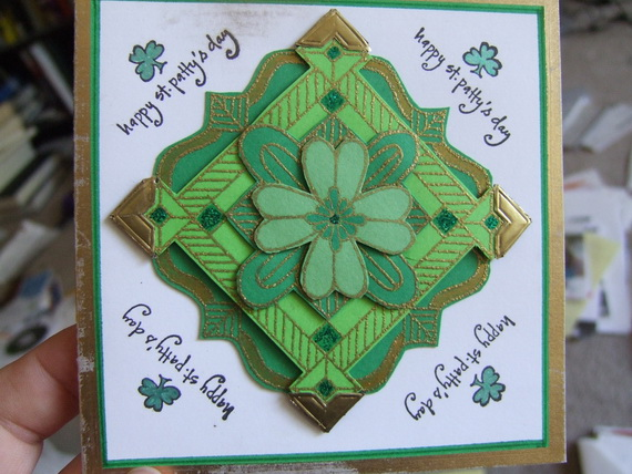Handmade Personalized St Patrick Card 9