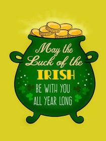 Printed Saint Patricks Day Cards 1