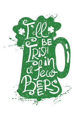 Printed Saint Patricks Day Cards 2