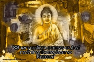 Budha Karma quotes picture