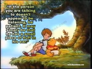 Winnie The Pooh about giving