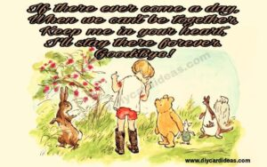 Winnie the pooh goodby
